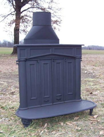 Bifold Franklin Portland Wood Coal Antique Fireplace