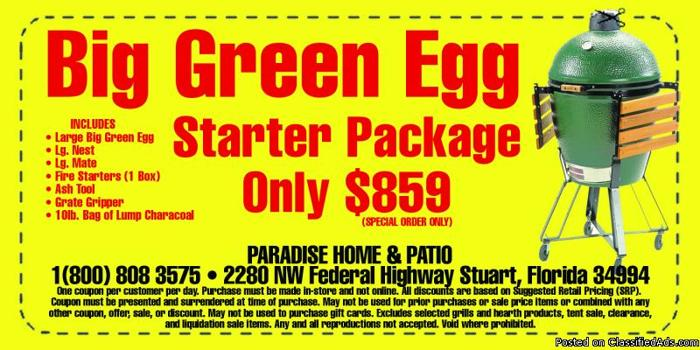 Big Green Egg Grill & Smoker for Sale in Stuart, Florida ...