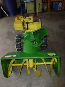 Big John Deere Snowblower - $500 (N Spokane)
