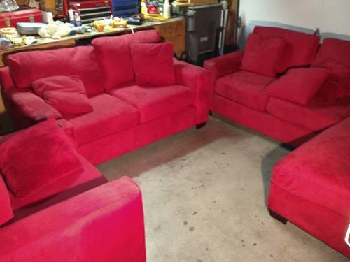 Admirable Big Red Couch Set For Sale In Santee California Classified Pdpeps Interior Chair Design Pdpepsorg