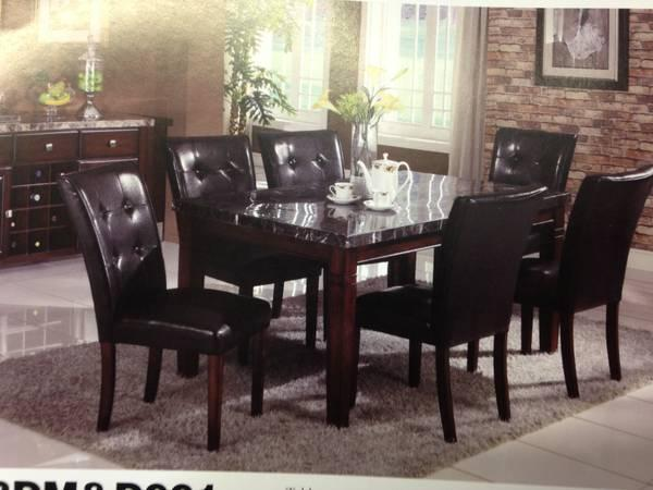 Big Sale Marble Dining Table Set 7PC Home Office