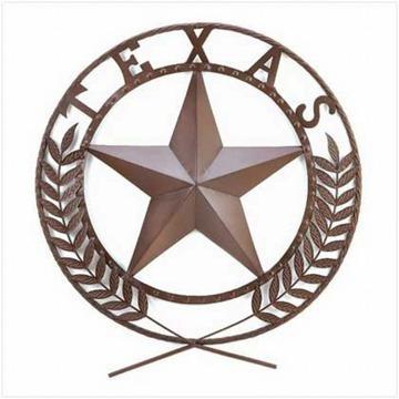 Big TEXAS STAR Metal Wall Plaque, Wall Art,Metal Art Work Texas Home ...