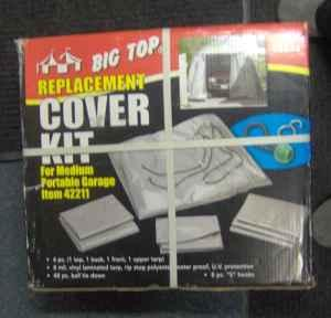 BIG TOP REPLACEMENT COVER KIT FOR MEDIUM PORTABLE GARAGE ...
