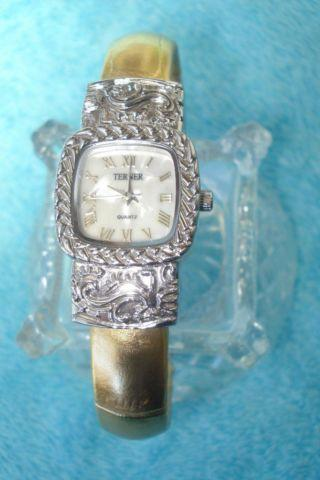 BIJOUX TERNER - Women's Silver & Gold Bracelet Cuff Watch ...