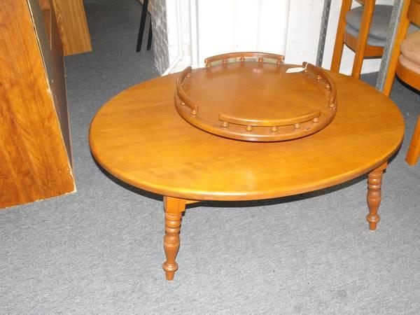 BILLu0027S OTHER YARD SALE / LAZY SUSAN COFFEE TABLE   $65