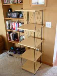 Birch Amp Black Metal Contemporary Stacking Shelves For