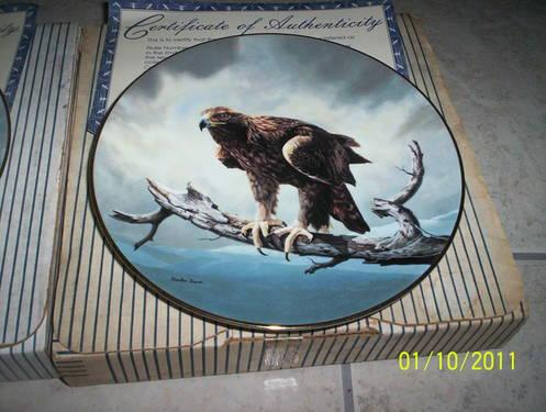 BIRD PLATE Collector, The Osprey & The Golden Eagle by