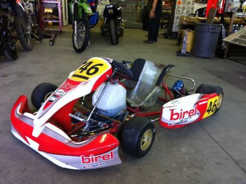 birel shifter kart chassis with kt100 engine and extras