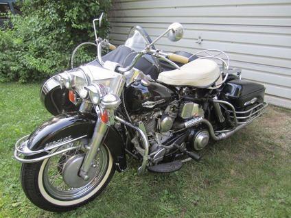 Black 1964 FLH Harley Davidson Panhead