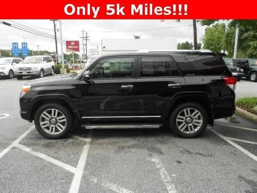 Black 2012 Toyota 4runner Limited 4wd Sport Luxury Suv