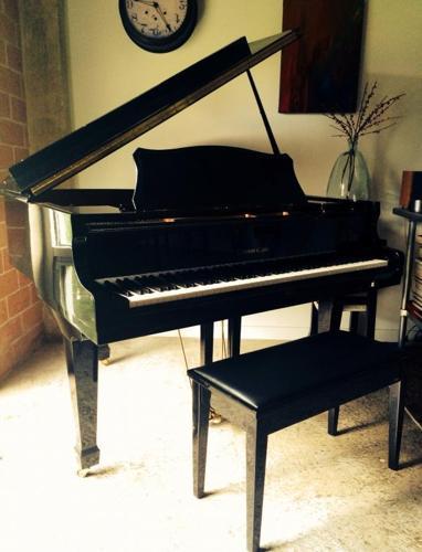 Black Baby Grand Piano For Sale In San Antonio Texas