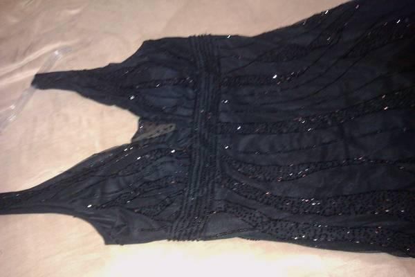 Black beaded evening gown - $70