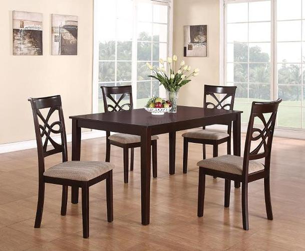 BLACK CHERRY 5 Pcs Dining Room Set For Sale In Atlanta