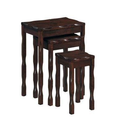 Black Cherry Solid Wood Nesting Tables (3-Piece)
