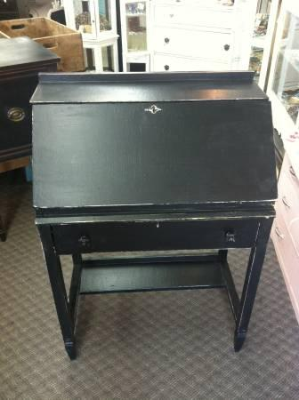 Black Distressed Secretary Desk For Sale In North