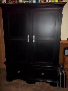 Black Entertainment Armoire / Tv Cabinet   $300 (mount