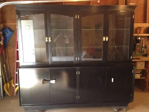 Exceptionnel Black Lacquer China Cabinet