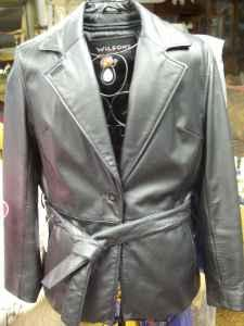 Black Leather Jacket - (Hamilton) for Sale in Missoula