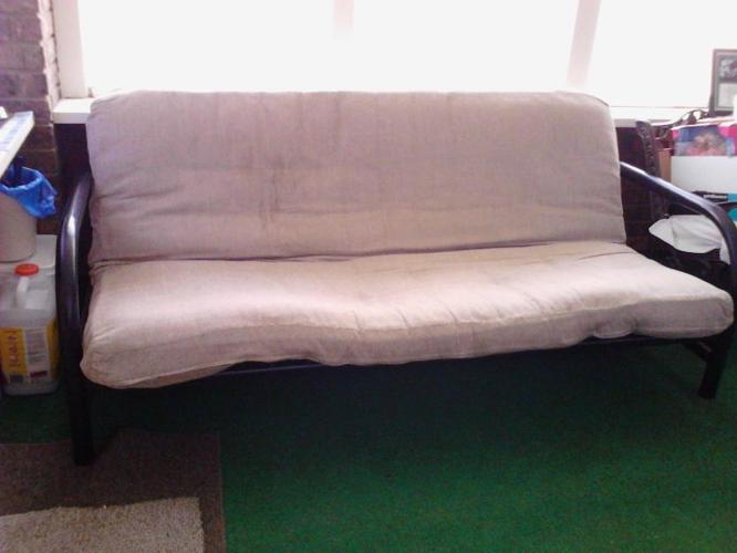black metal frame futon