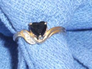 Black Onyx Heart Shape Ring - $90 (Tulare)