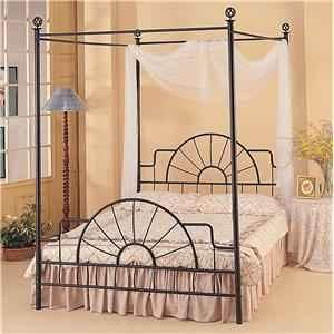 Black Roth Iron Canopy Queen Bed Frame   $90 (Boones