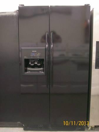BLACK SIDE BY SIDE REFRIGERATOR - $625