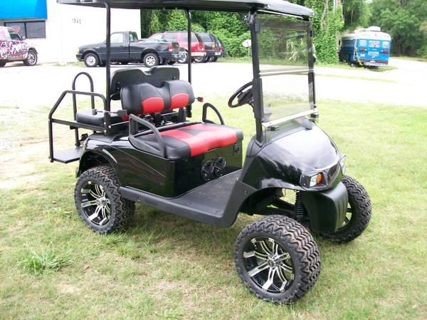 BLACK WIDOW EZ-GO RXV STREET LEGAL GOLF CART - for Sale in Pensacola on custom golf carts street legal, golf car street legal, gem golf carts street legal, gas golf carts street legal,