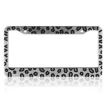 Bling Bling Rhinestone License Plate Frames (Leopard) for Sale in ...