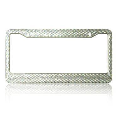 Bling Bling Rhinestone License Plate Frames (Silver) for Sale in ...