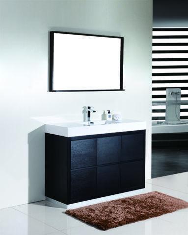 Bliss 48 39 39 Black Floor Mount Modern Bathroom Vanity For