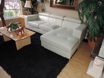 Bloomingdaleu0027s Nicoletti Tufted Optic White Leather