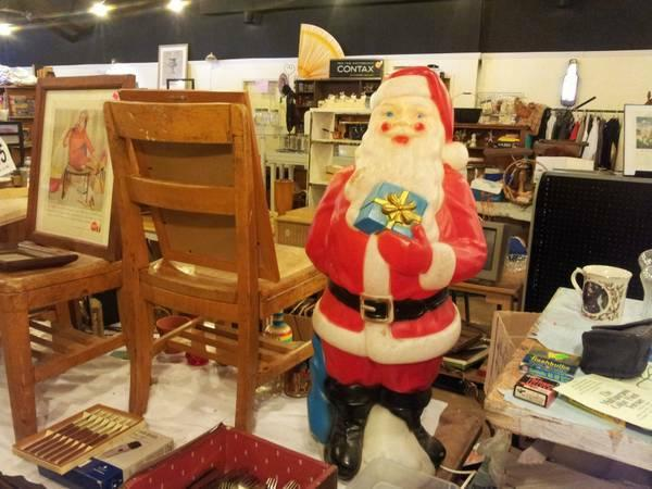 Blow mold Santa Claus with internal light - vintage - $39