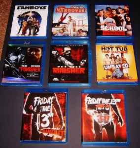 Blu Ray Movie Lot of 8 - $100 (Dalton, Georgia)