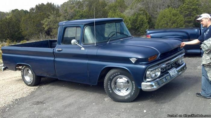 Blue 1962 GMC C10 Small Window Long Bed Daily driver ...
