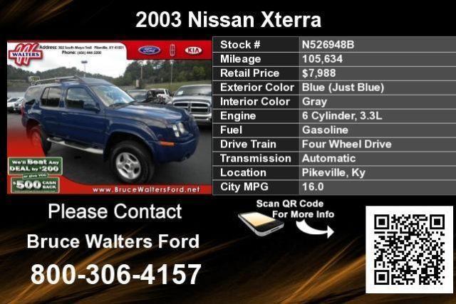 Blue 2003 Nissan Xterra for Sale in Broad Bottom, Kentucky ...