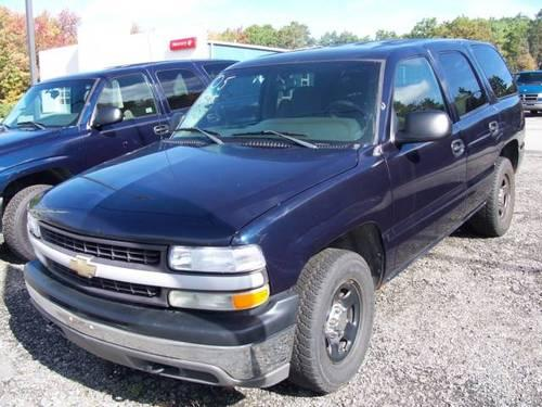 Blue 2004 Chevy Tahoe 4wd With Barn Doors 4x4 For Sale In
