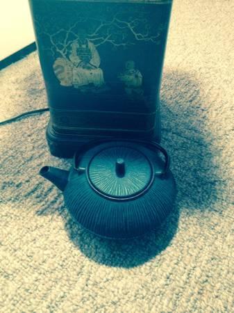 Blue Cast Iron Teapot - $20
