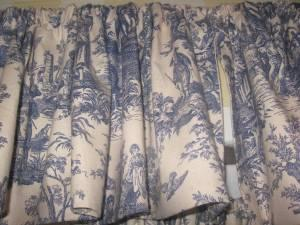 Blue Amp Cream Toile Curtains Ashdown For Sale In
