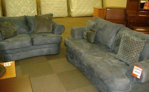 Blue Microfiber Living Room Set McKnight Rd Pgh for