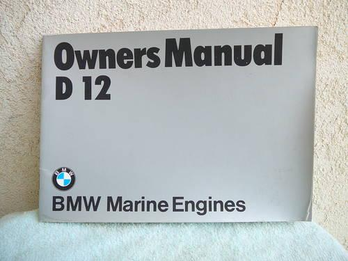Bmw Marine Engine Owners Manuals For Sale In
