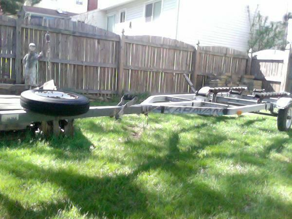 Boat Trailer with title- New Axel and Tires - $350