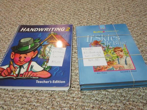 Bob Jones and Saxon Math homeschool books for sale - for