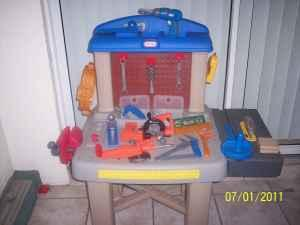 Magnificent Bob The Builder Set And Little Tikes Workbench Bradenton Gmtry Best Dining Table And Chair Ideas Images Gmtryco