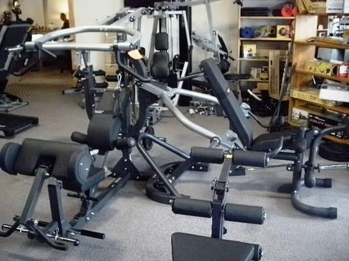 Body solid powerlift leverage gym used w leg press for