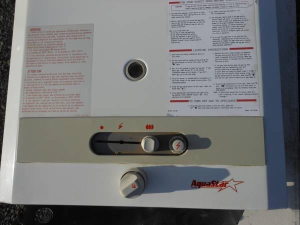bosch tankless water heater - $475