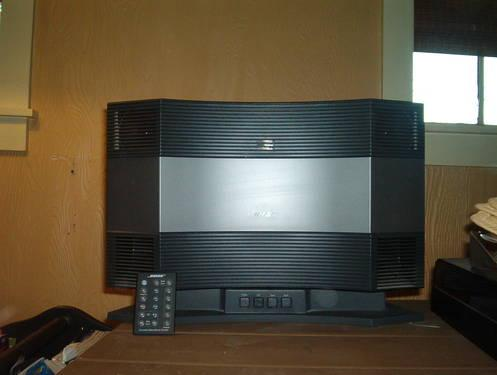 bose acoustic wave music system model cd3000 with pedestal remote for sale in phillipsburg. Black Bedroom Furniture Sets. Home Design Ideas