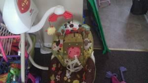 Bouncy seat, cradle swing, travel swing - $50