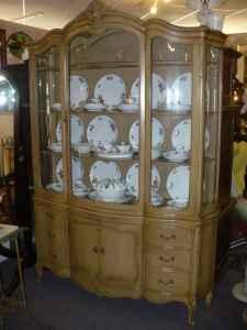 Bow Front French Country China Cabinet   $795 (Sunrise