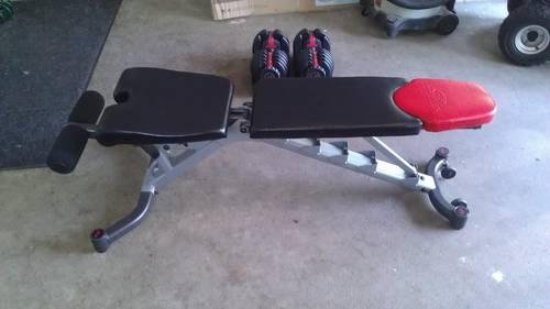 Bowflex 552 Dumbbells And 5 1 Bench For Sale In Lake