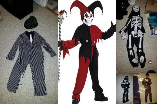 Boys Halloween Costumes Gangster, Joker, Skeleton, Darth Vadar